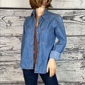 Express Vintage Jean Shirt - Size Small